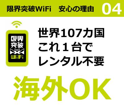 限界突破WiFi 安心の理由4